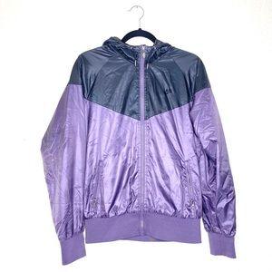 Nike faux down filled zip up windbreaker jacket